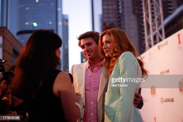 Actor Jamie Thomas King and actress Rachelle Lefevre attends LEXUS Live on Grand hosted by Curtis Stone at the third annual Los Angeles Food Wine...