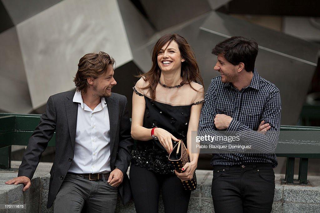 Actor Jan Cornet, actress Claudia Bassols and director Roger Gual attend 'Menu Degustacion' presentation at Cines Princesa on June 7, 2013 in Madrid, Spain.