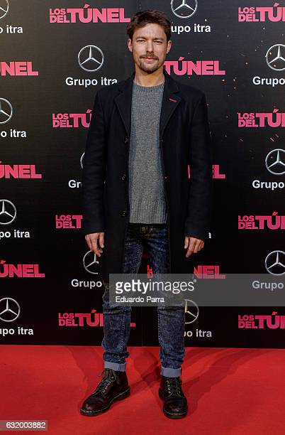 Actor Jan Cornet attends 'Los del Tunel' premiere at Capitol cinema on January 18 2017 in Madrid Spain