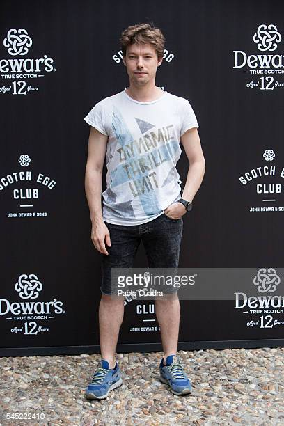 Actor Jan Cornet attends the Dewar's Scotch Egg Club opening party at the Real Fabrica de Tapices on July 6 2016 in Madrid Spain