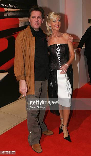 Actor Jan Fedder and his wife Marion Fedder arrive at the Tribute To Bambi Charity Gala on November 17 2004 in Hamburg Germany