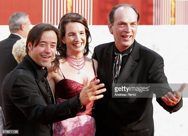 Actor Jan Josef Liefers Christiane Lehrmann and her husband actor Herbert Knaup attend the German Film Awards at the Palais am Funkturm May 12 2006...