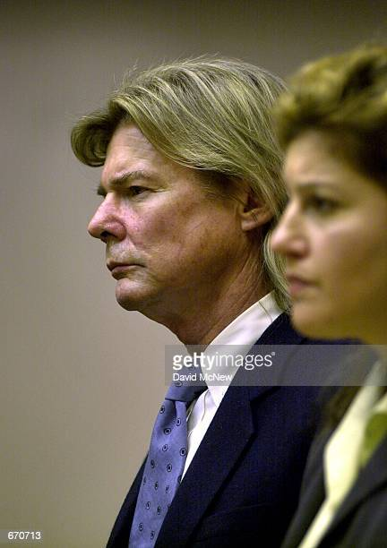 Actor Jan MichaelVincent appears in court with his lawyer Sharon B Morris right September 21 2000 in Laguna Niguel CA for arraignment on a charge of...