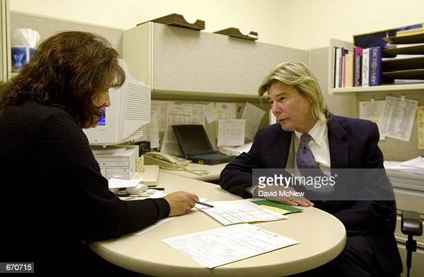Actor Jan MichaelVincent fills out paperwork September 21 2000 in the probation office of Superior Court in Laguna Niguel CA after his arraignment on...