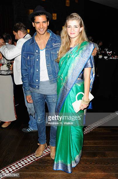 Actor Jan Uddin and Kristen Ringlemann attend the Screening After Party day 2 of the 2011 Doha Tribeca Film Festival at the Spice Market on October...
