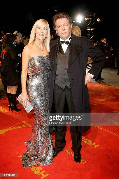Actor Jan Vedder and wife Marion attend the Goldene Kamera 2010 Award at the Axel Springer Verlag on January 30 2010 in Berlin Germany