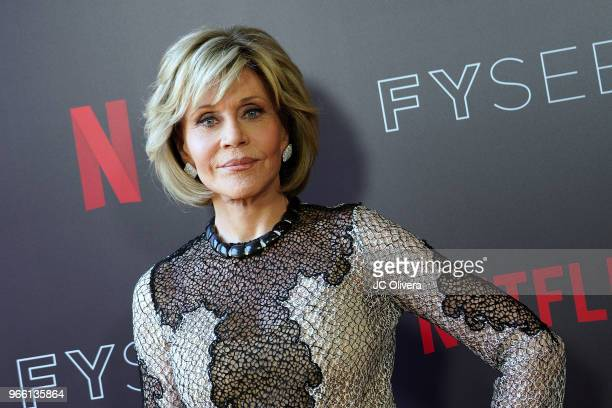 Actor Jane Fonda attends #NETFLIXFYSEE Event For 'Grace and Frankie' at Netflix FYSEE at Raleigh Studios on June 2 2018 in Los Angeles California