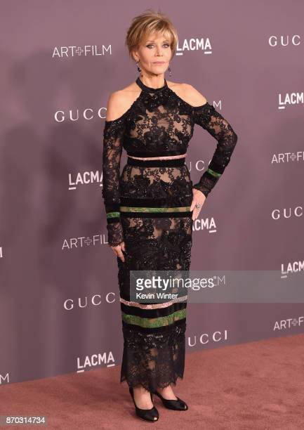 Actor Jane Fonda attends the 2017 LACMA Art Film Gala Honoring Mark Bradford And George Lucas at LACMA on November 4 2017 in Los Angeles California