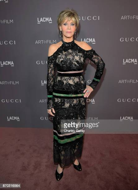 Actor Jane Fonda attends the 2017 LACMA Art Film Gala Honoring Mark Bradford and George Lucas presented by Gucci at LACMA on November 4 2017 in Los...