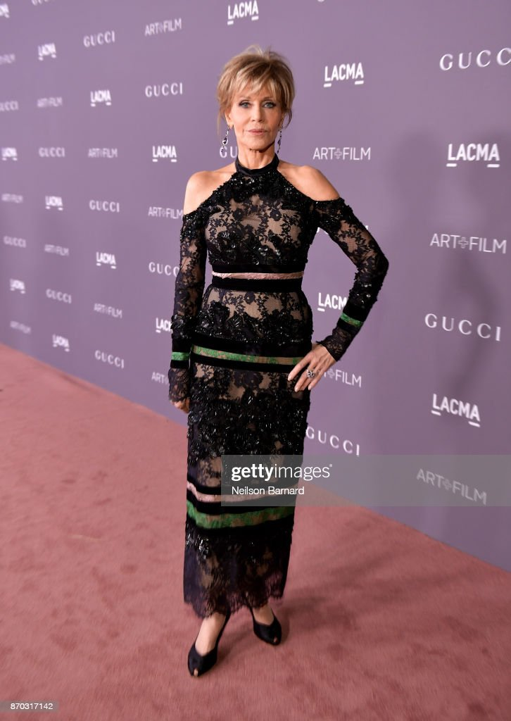Actor Jane Fonda attends the 2017 LACMA Art + Film Gala Honoring Mark Bradford and George Lucas presented by Gucci at LACMA on November 4, 2017 in Los Angeles, California.