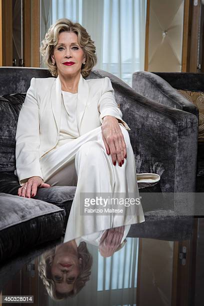 Actor Jane Fonda is photographed in Cannes France