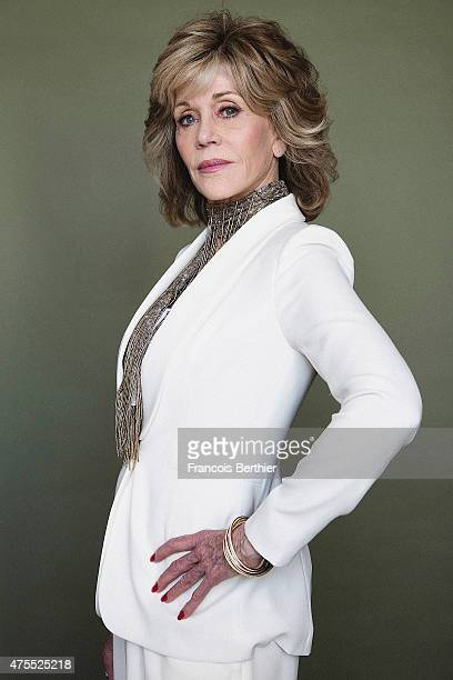 Actor Jane Fonda is photographed on May 20 2015 in Cannes France