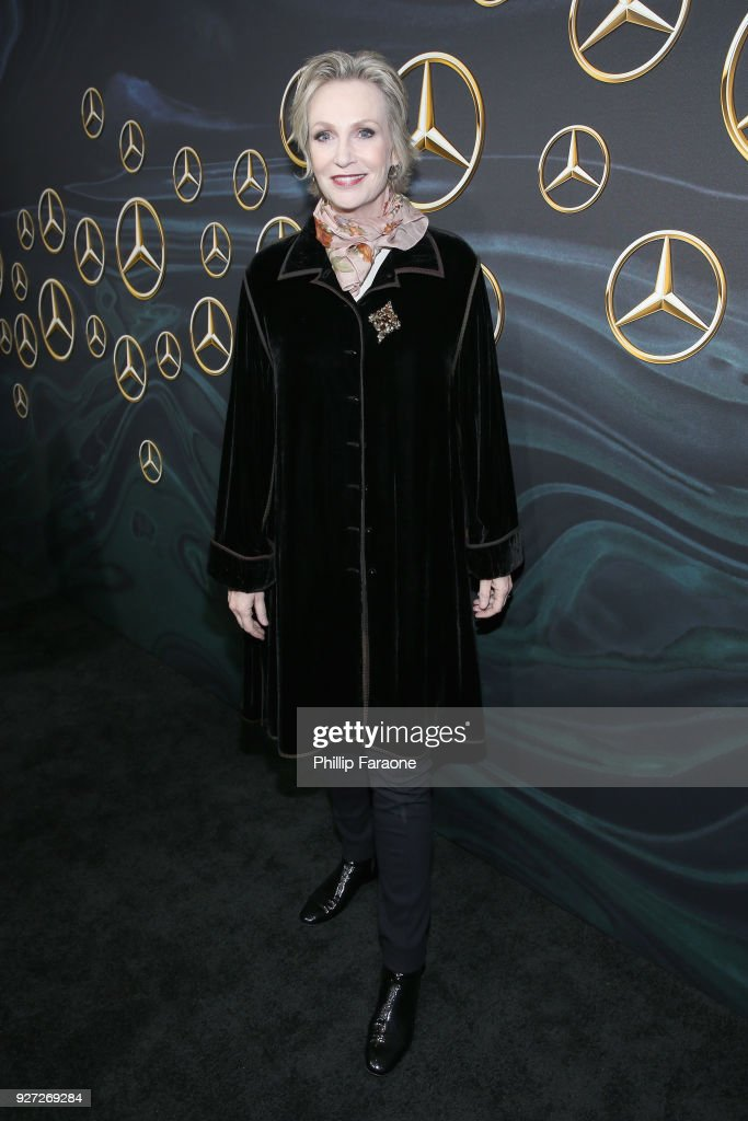 Actor Jane Lynch attends Mercedes-Benz USA Official Awards Viewing Party at Four Seasons, Beverly Hills, CA on March 4, 2018 in Los Angeles, California.