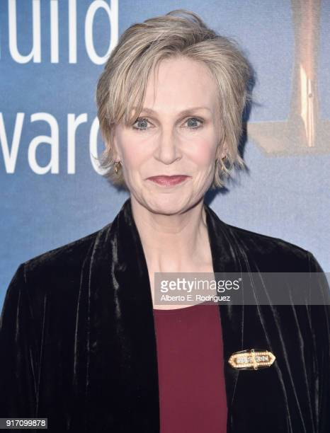 Actor Jane Lynch attends the 2018 Writers Guild Awards LA Ceremony at The Beverly Hilton Hotel on February 11 2018 in Beverly Hills California