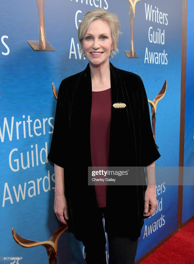 Actor Jane Lynch attends the 2018 Writers Guild Awards L.A. Ceremony at The Beverly Hilton Hotel on February 11, 2018 in Beverly Hills, California.
