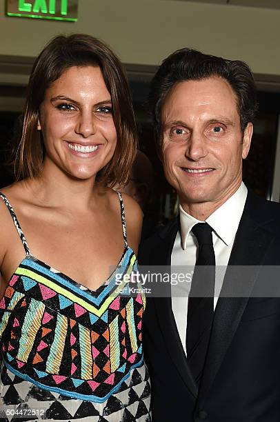 Actor Jane Musky and Tony Goldwyn attend HBO's Official Golden Globe Awards After Party at The Beverly Hilton Hotel on January 10 2016 in Beverly...