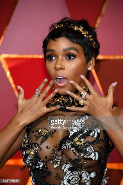 Actor Janelle Monae attends the 89th Annual Academy Awards at Hollywood Highland Center on February 26 2017 in Hollywood California