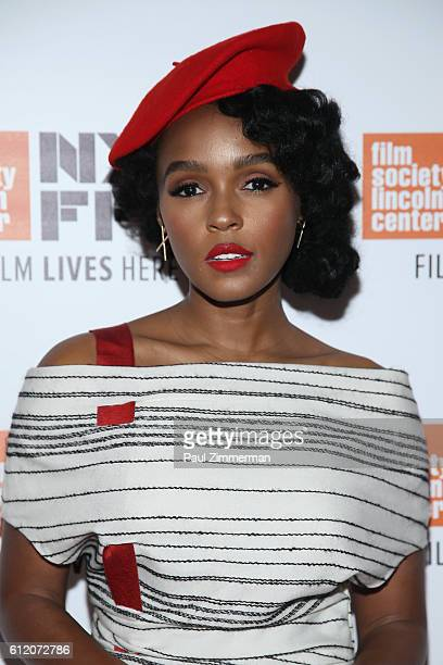 Actor Janelle Monae attends the Moonlight premiere during the 54th New York Film Festival at Alice Tully Hall Lincoln Center on October 2 2016 in New...