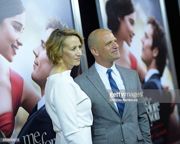 Actor Janet McTeer and Joe Coleman attend Me Before You World Premiere at AMC Loews Lincoln Square 13 theater on May 23 2016 in New York City