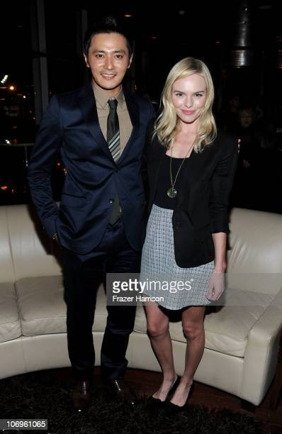 """Actor Jang Dong-gun and actress Kate Bosworth attend """"The Warrior's Way"""" junket panel held at the Landmark Theatre on November 18, 2010 in Los..."""
