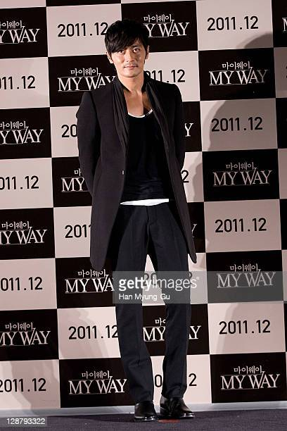 Actor Jang Dong-Gun attend at the press conference of the 'My Way' during the 16th Busan International Film Festival at Shinsegae CGV theater on...