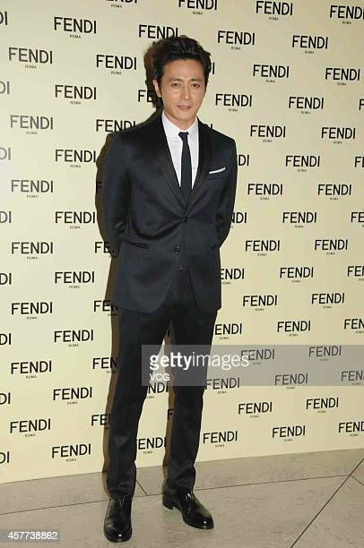 "Actor Jang Dong-gun attends commercial activity of ""Fendi"" on October 23, 2014 in Hong Kong, China."