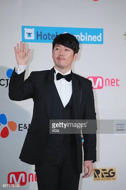 Actor Jang Hyuk arrives at the red carpet during the 2016 Mnet Asian Music Awards at AsiaWorldExpo on December 2 2016 in Hong Kong Hong Kong