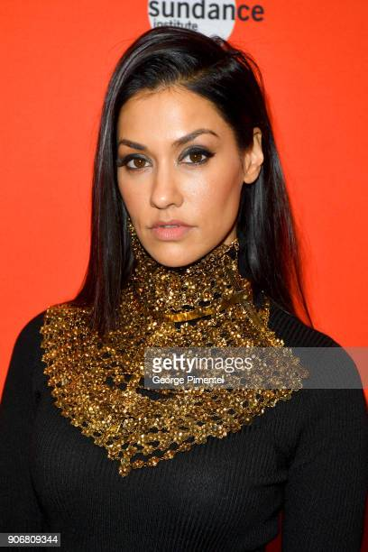 Actor Janina Gavankar attends the Blindspotting Premiere during the 2018 Sundance Film Festival at Eccles Center Theatre on January 18 2018 in Park...