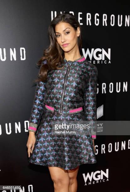 Actor Janina Gavankar attends WGN America's Underground Season Two Premiere Screening at Regency Village Theatre on March 1 2017 in Westwood...