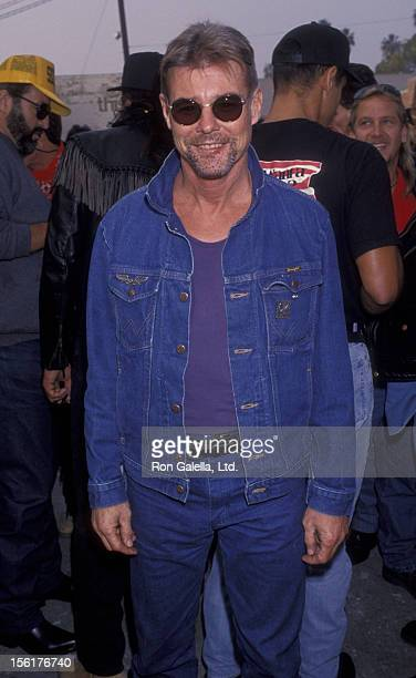 Actor JanMichael Vincent attends 10th Annual Love Ride Benefit for Muscluar Dystrophy on November 7 1993 at the HarleyDavidson of Glendale California