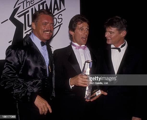 Actor JanMichael Vincent attends First Annual Stuntman Awards on February 2 1985 at KABC TV Studios in Los Angeles California