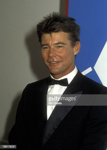 Actor JanMichael Vincent attends Second Annual Stuntman Awards on March 22 1986 at KTLA Studios in Los Angeles California
