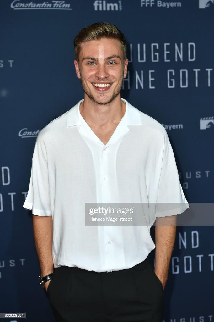 Actor Jannik Schuemann attends the 'Jugend ohne Gott' premiere at Mathaeser Filmpalast on August 21, 2017 in Munich, Germany.