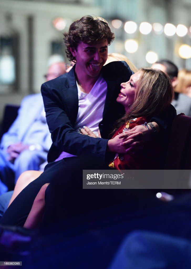 Actor Jansen Panettiere and mother Lesley Vogel attend the 23rd Annual Environmental Media Awards presented by Toyota and Lexus at Warner Bros. Studios on October 19, 2013 in Burbank, California.