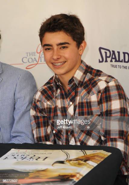 """Actor Jansen Panettiere signs autographs during the Los Angeles premiere of """"The Perfect Game"""" pre-event in the Pacific Theaters at the Grove on..."""