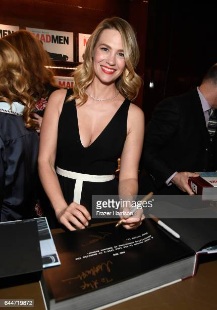 Actor January Jones attends the launch for Matthew Weiner's Book Mad Men at TASCHEN Store Beverly Hills on February 23 2017 in Beverly Hills...