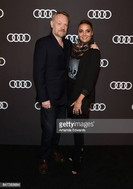 Actor Jared Harris and actress Allegra Riggio arrive at the Audi Celebrates The 69th Emmys party at The Highlight Room at the Dream Hollywood on...