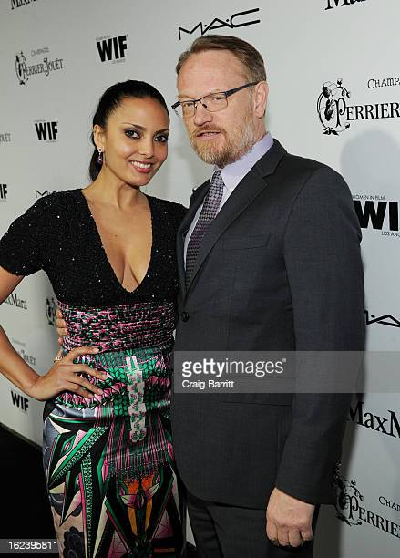Actor Jared Harris and Allegra Riggio attend the 6th Annual Women In Film PreOscar Party hosted by Perrier Jouet MAC Cosmetics and MaxMara at Fig...
