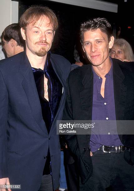 Actor Jared Harris and brother Actor Jamie Harris attend the Good Will Hunting Westwood Premiere on December 2 1997 at Mann Bruin Theatre in Westwood...