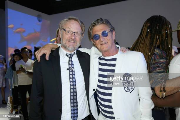 Actor Jared Harris and designer Nick Graham attend Nick Graham Atlantis SS18 at Skylight Clarkson SQ on July 11 2017 in New York City