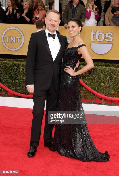 Actor Jared Harris and guest arrive at the19th Annual Screen Actors Guild Awards held at The Shrine Auditorium on January 27 2013 in Los Angeles...