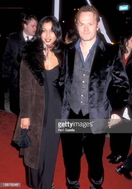 Actor Jared Harris and Samia Shoaib attend the Lost in Space Hollywood Premiere on March 29 1998 at Pacific's Cinerama Dome in Hollywood California
