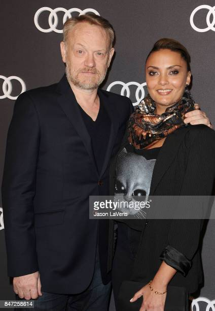 Actor Jared Harris and wife Allegra Riggio attend the Audi celebration for the 69th Emmys at The Highlight Room at the Dream Hollywood on September...
