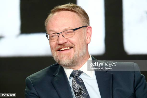 Actor Jared Harris of 'The Terror' speaks onstage during the AMC Networks portion of the 2018 Winter Television Critics Association Press Tour at The...