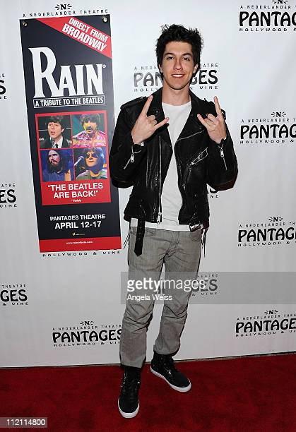 Actor Jared Kusnitz arrives at the opening night of 'Rain A Tribute To The Beatles' at the Pantages Theatre on April 12 2011 in Hollywood California