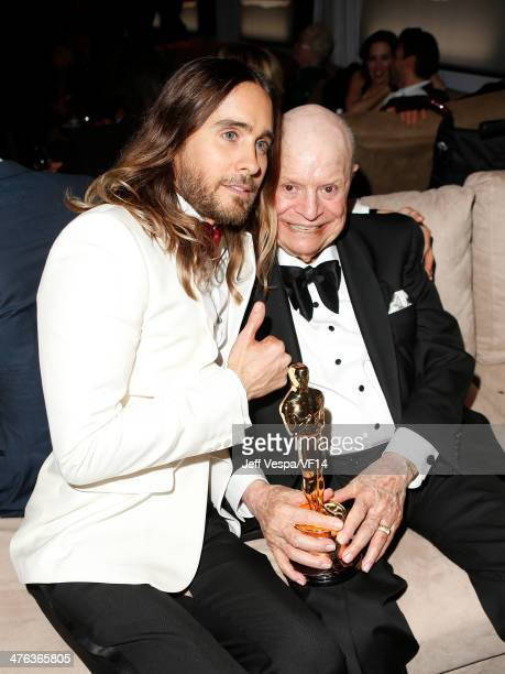 Actor Jared Leto and comedian Don Rickles attend the 2014 Vanity Fair Oscar Party Hosted By Graydon Carter on March 2 2014 in West Hollywood...