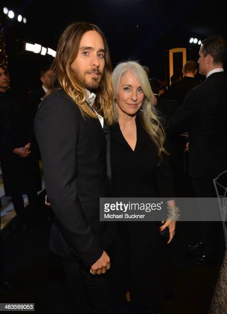 Actor Jared Leto and Constance Leto attend 20th Annual Screen Actors Guild Awards at The Shrine Auditorium on January 18 2014 in Los Angeles...