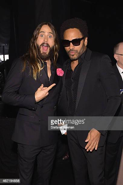 Actor Jared Leto and recording artist/actor Lenny Kravitz attend TNT's 21st Annual Screen Actors Guild Awards at The Shrine Auditorium on January 25,...