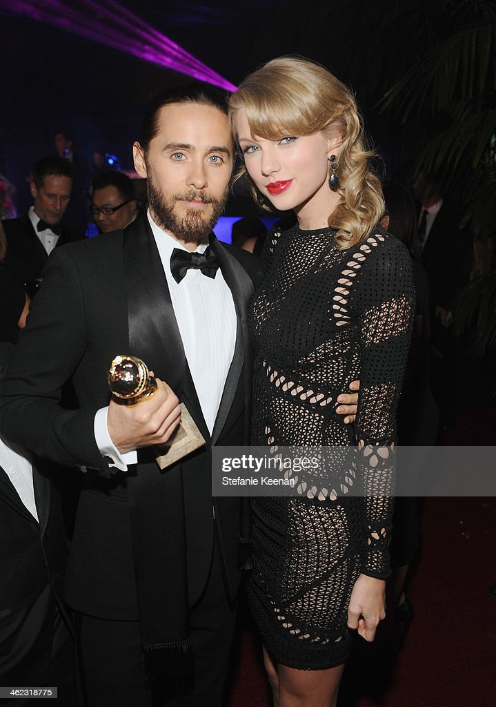 Actor Jared Leto and singer Taylor Swift attend the 2014 InStyle And Warner Bros. 71st Annual Golden Globe Awards Post-Party at The Beverly Hilton Hotel on January 12, 2014 in Beverly Hills, California.
