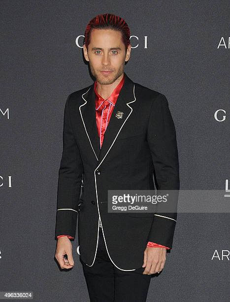 Actor Jared Leto arrives at the LACMA 2015 ArtFilm Gala Honoring James Turrell And Alejandro G Inarritu Presented By Gucci at LACMA on November 7...